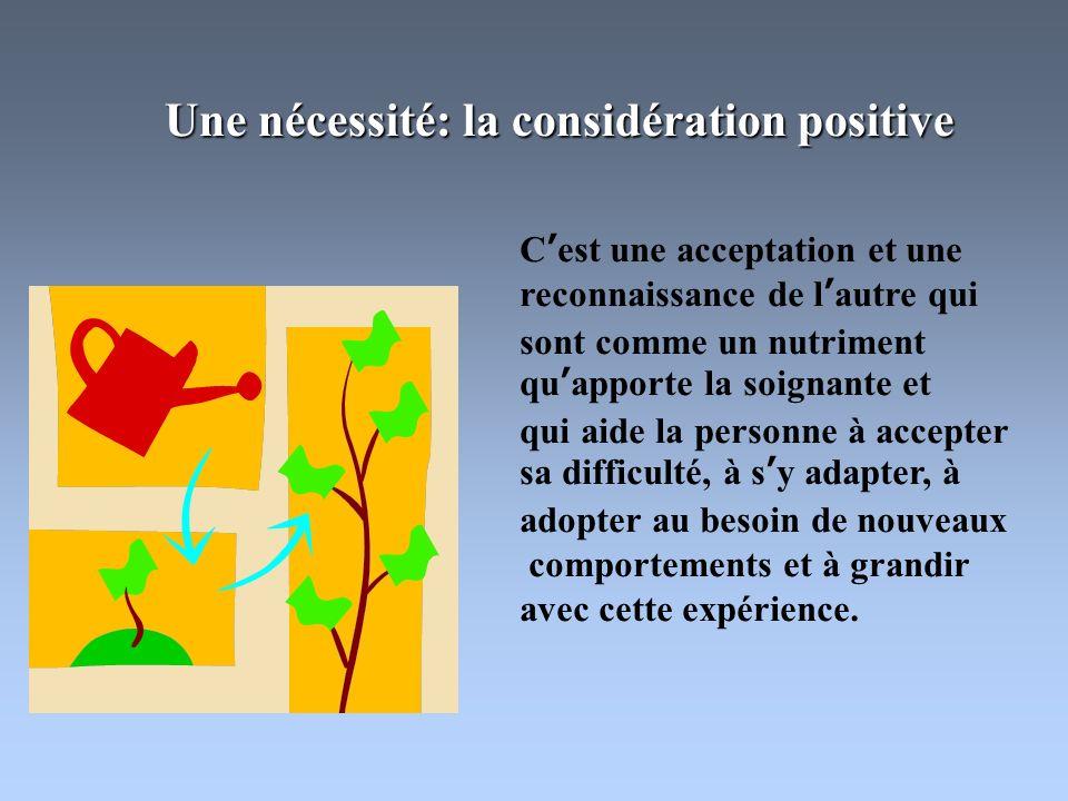 Une nécessité: la considération positive