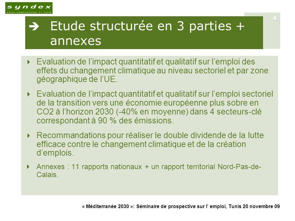 Etude structurée en 3 parties + annexes