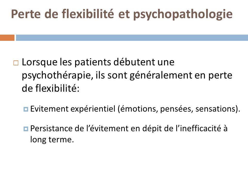 Perte de flexibilité et psychopathologie