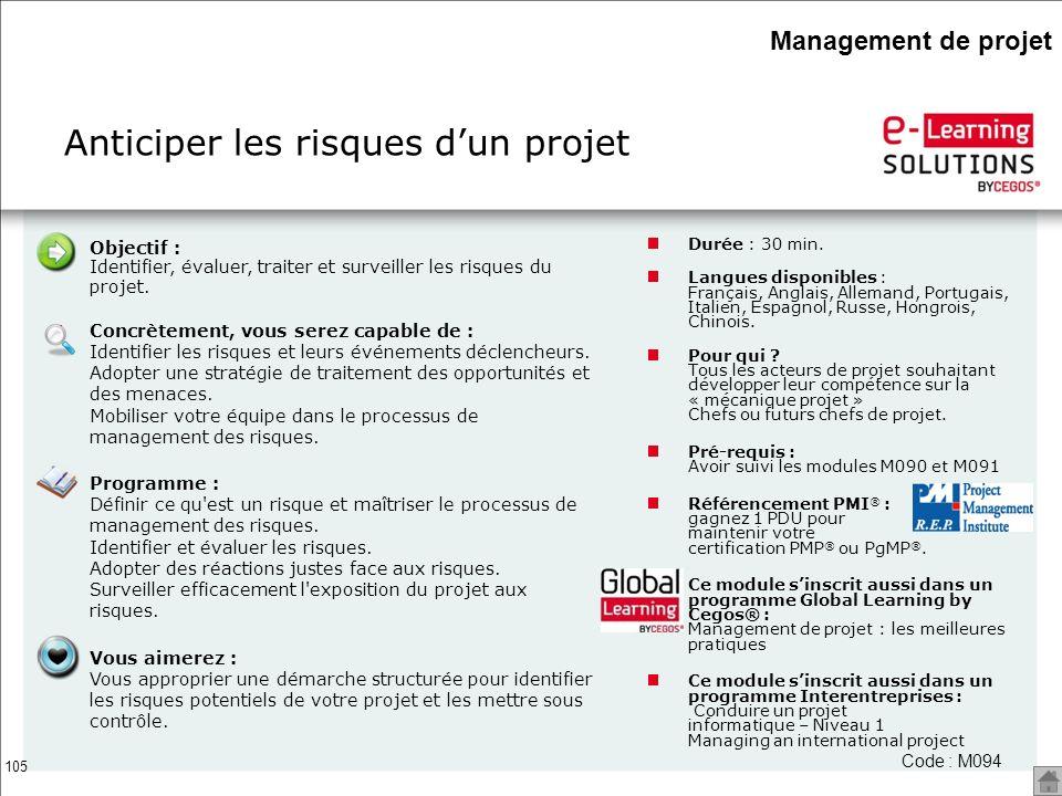 Anticiper les risques d'un projet