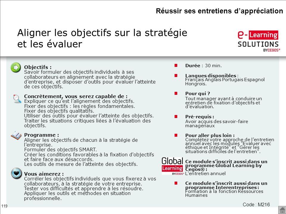 Aligner les objectifs sur la stratégie et les évaluer