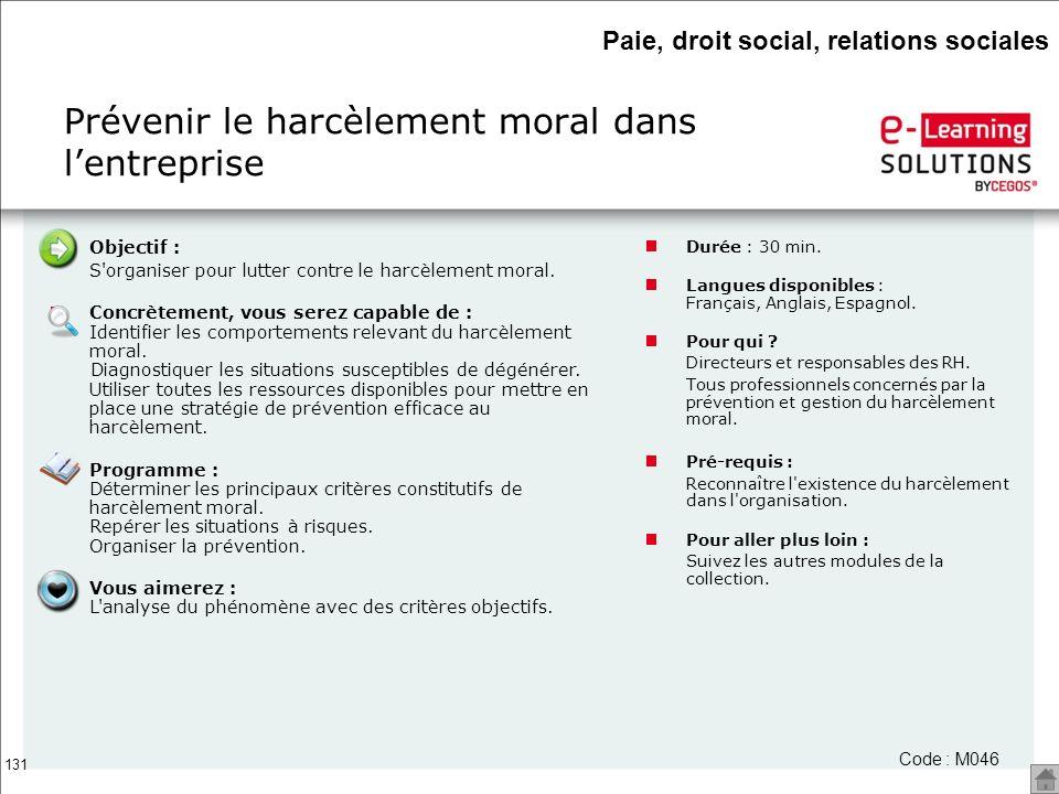Prévenir le harcèlement moral dans l'entreprise