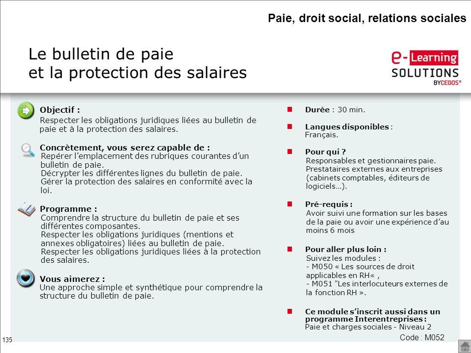 Le bulletin de paie et la protection des salaires