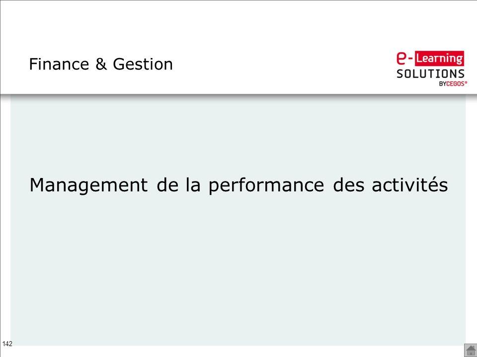 Management de la performance des activités