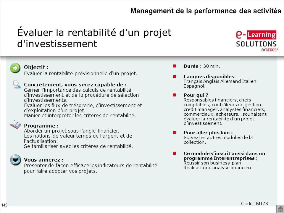 Évaluer la rentabilité d un projet d investissement