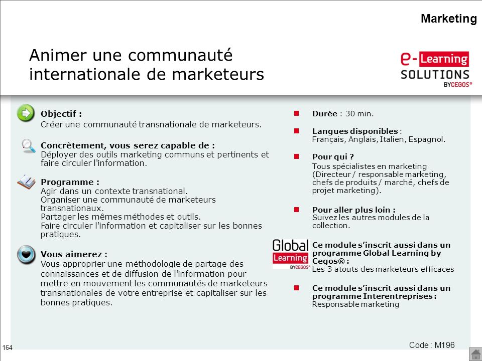 Animer une communauté internationale de marketeurs