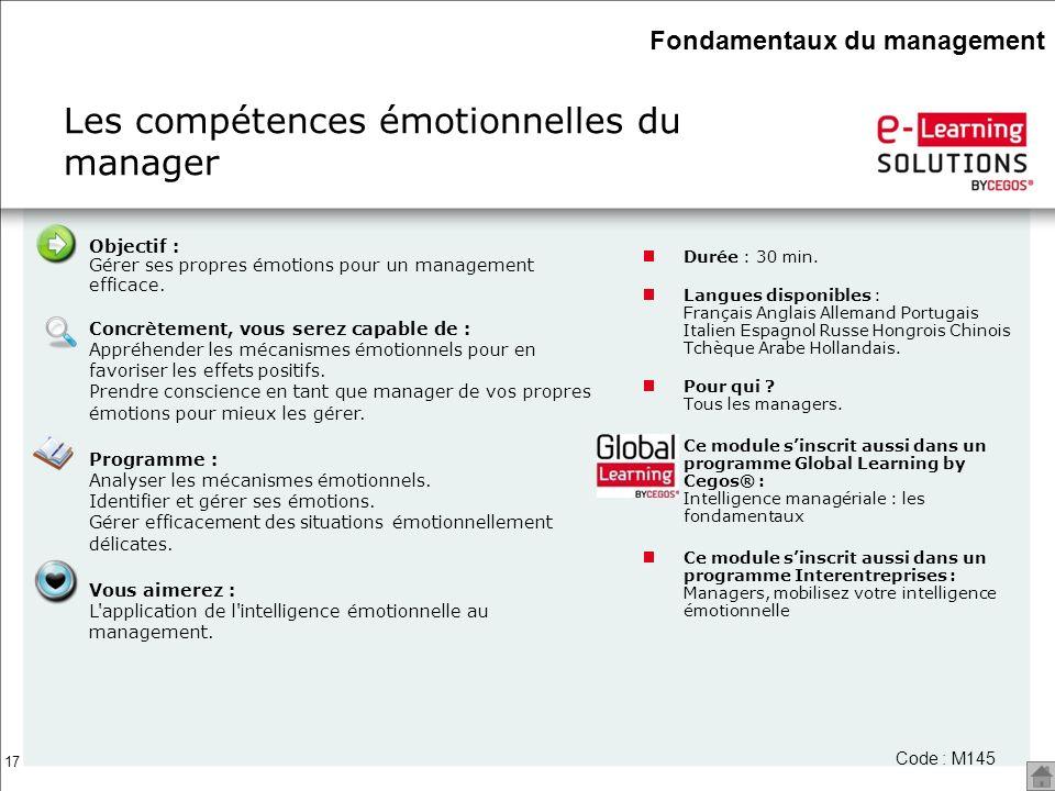 Les compétences émotionnelles du manager