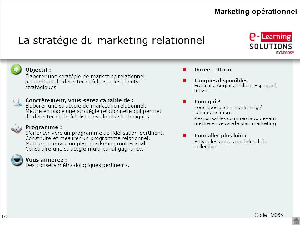 La stratégie du marketing relationnel