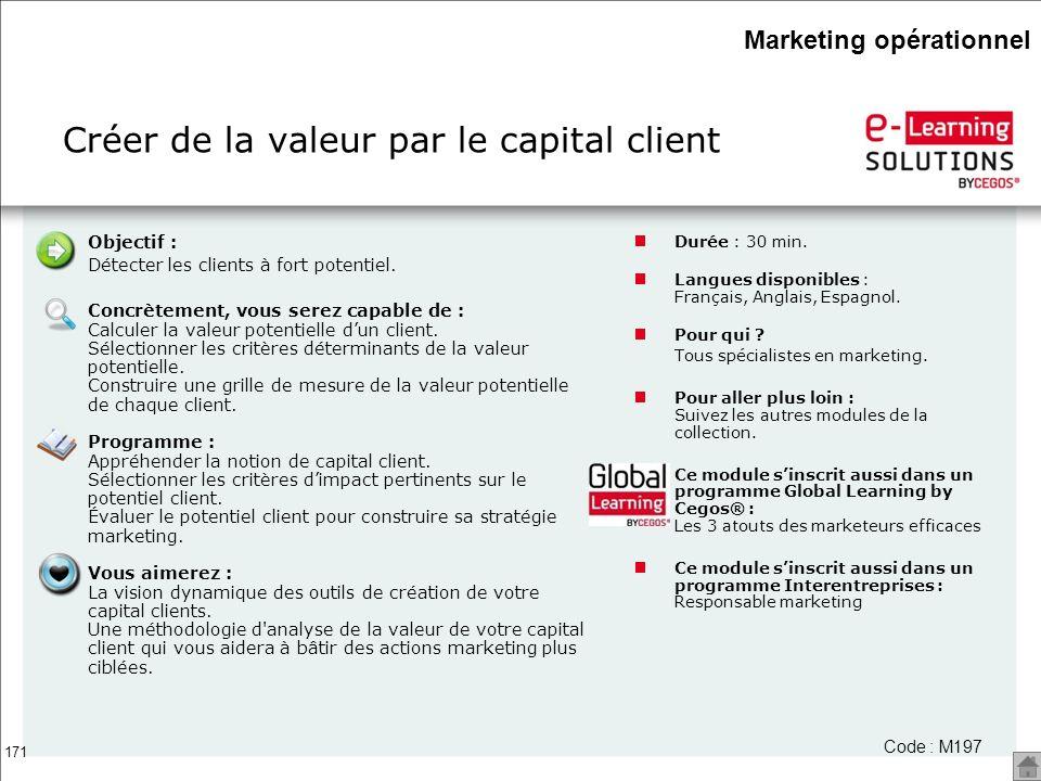 Créer de la valeur par le capital client