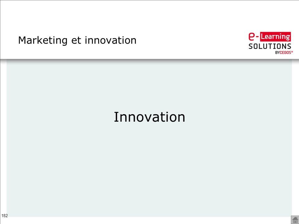 Marketing et innovation