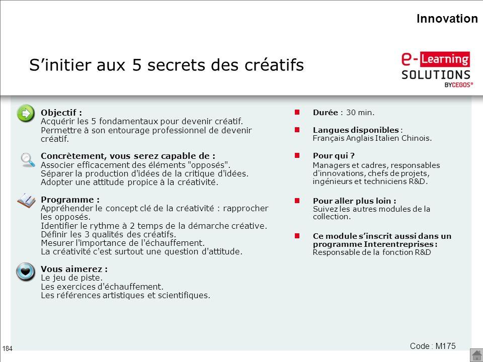S'initier aux 5 secrets des créatifs