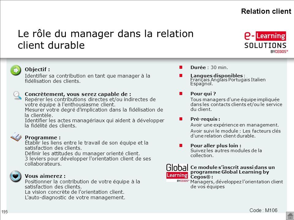 Le rôle du manager dans la relation client durable