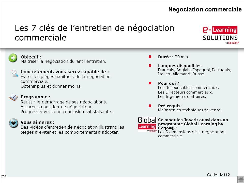 Les 7 clés de l'entretien de négociation commerciale