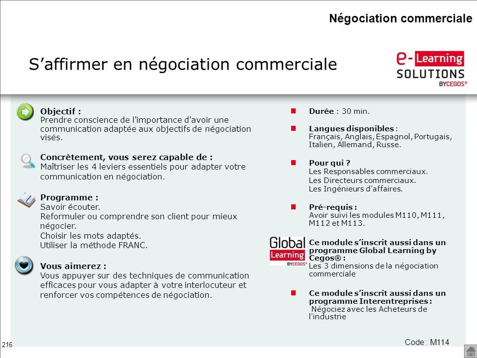 S'affirmer en négociation commerciale