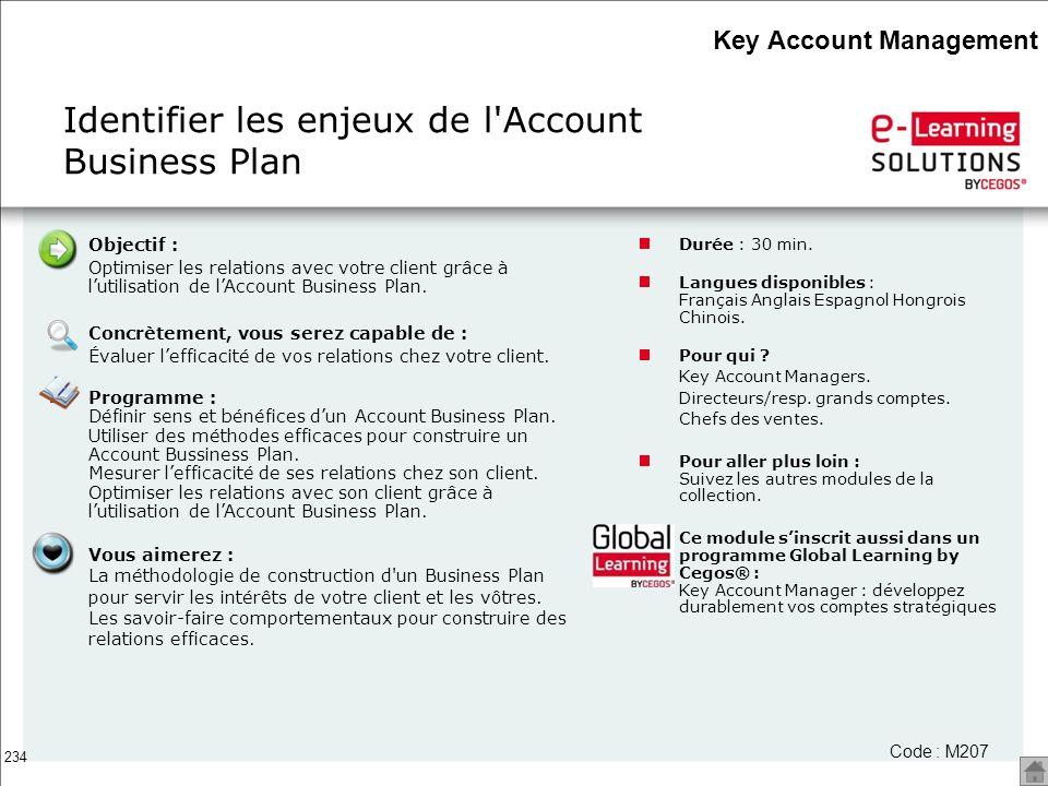 Identifier les enjeux de l Account Business Plan