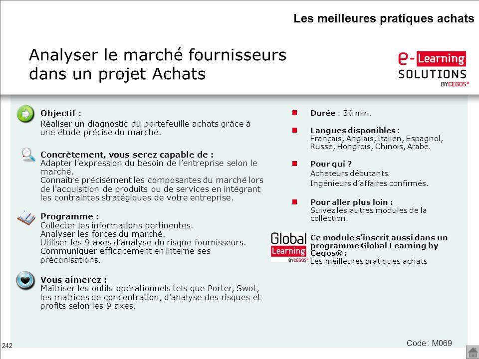 Analyser le marché fournisseurs dans un projet Achats