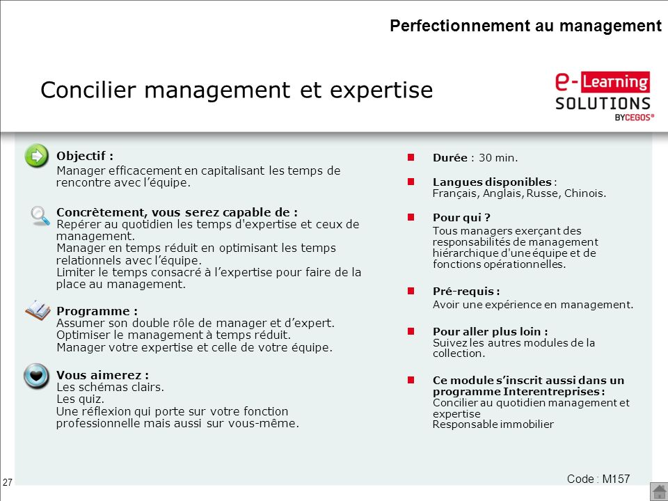 Concilier management et expertise