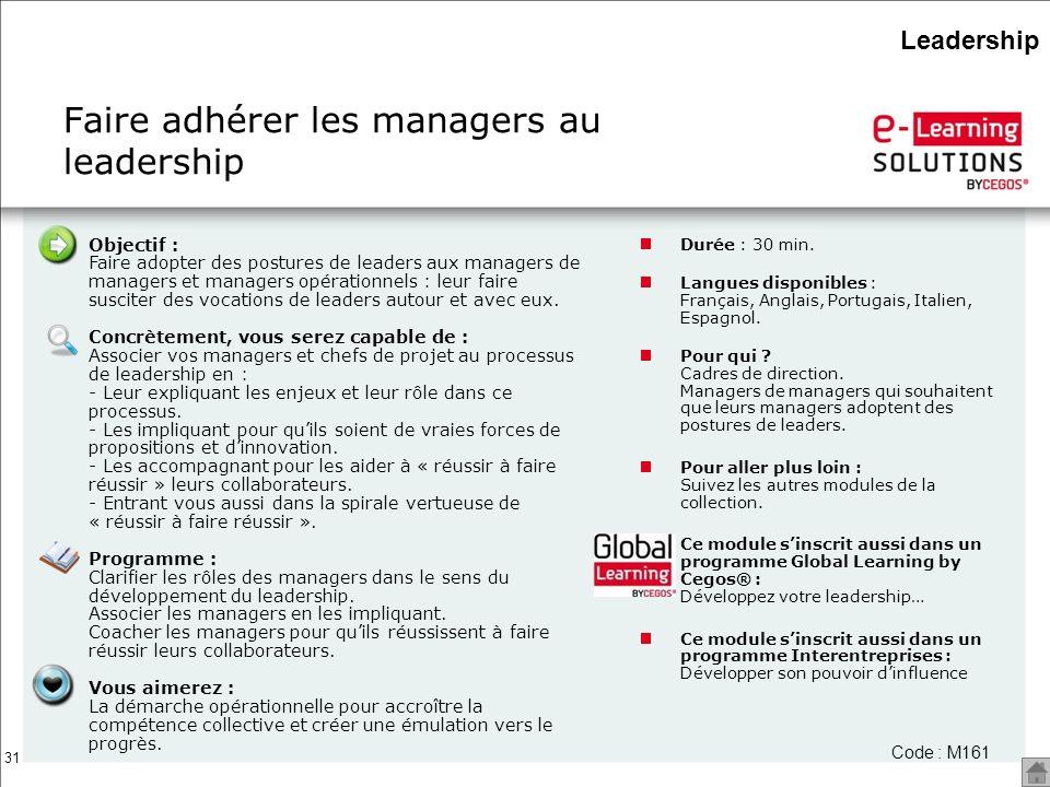 Faire adhérer les managers au leadership