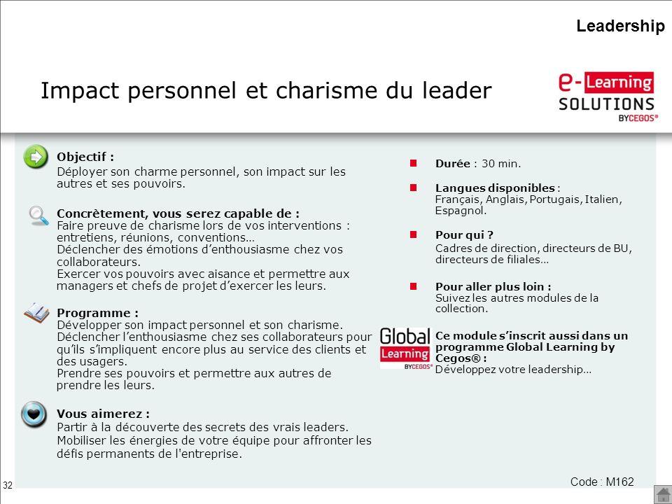 Impact personnel et charisme du leader