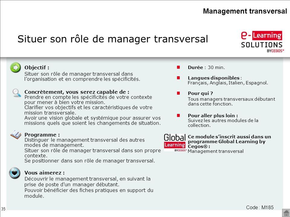 Situer son rôle de manager transversal