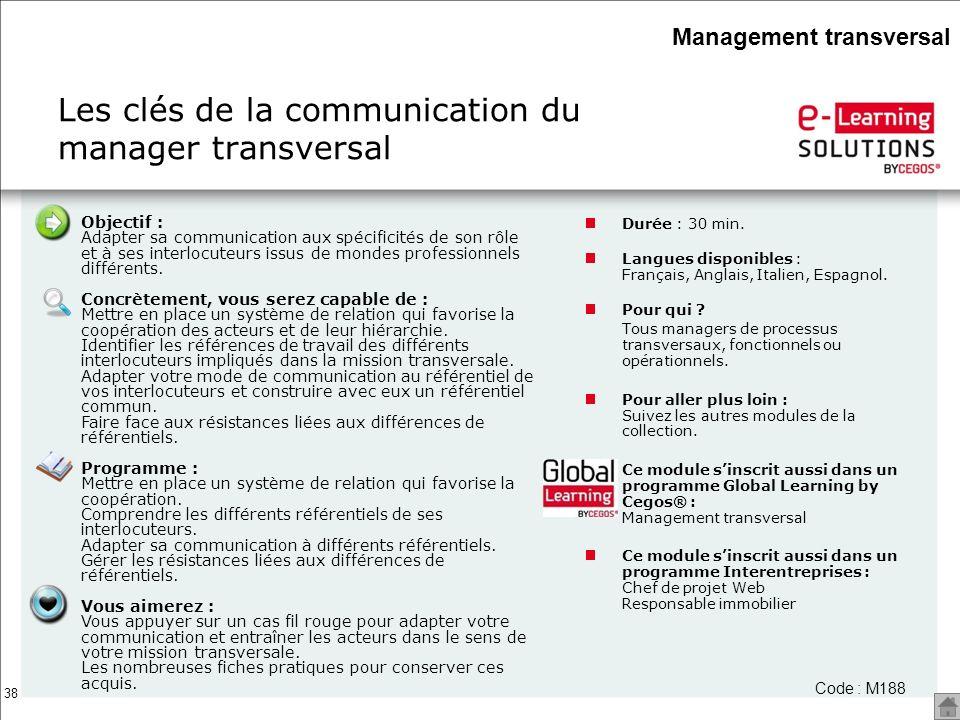 Les clés de la communication du manager transversal