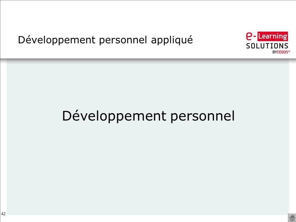 Développement personnel appliqué