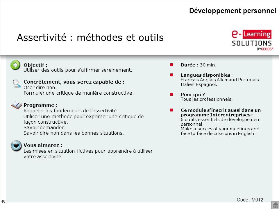 Assertivité : méthodes et outils