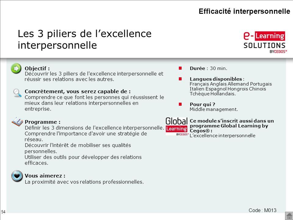 Les 3 piliers de l'excellence interpersonnelle