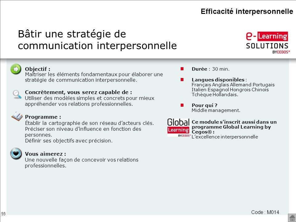 Bâtir une stratégie de communication interpersonnelle