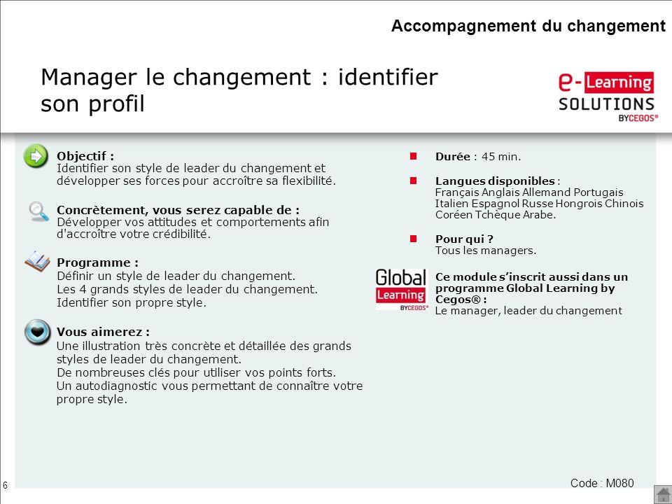 Manager le changement : identifier son profil