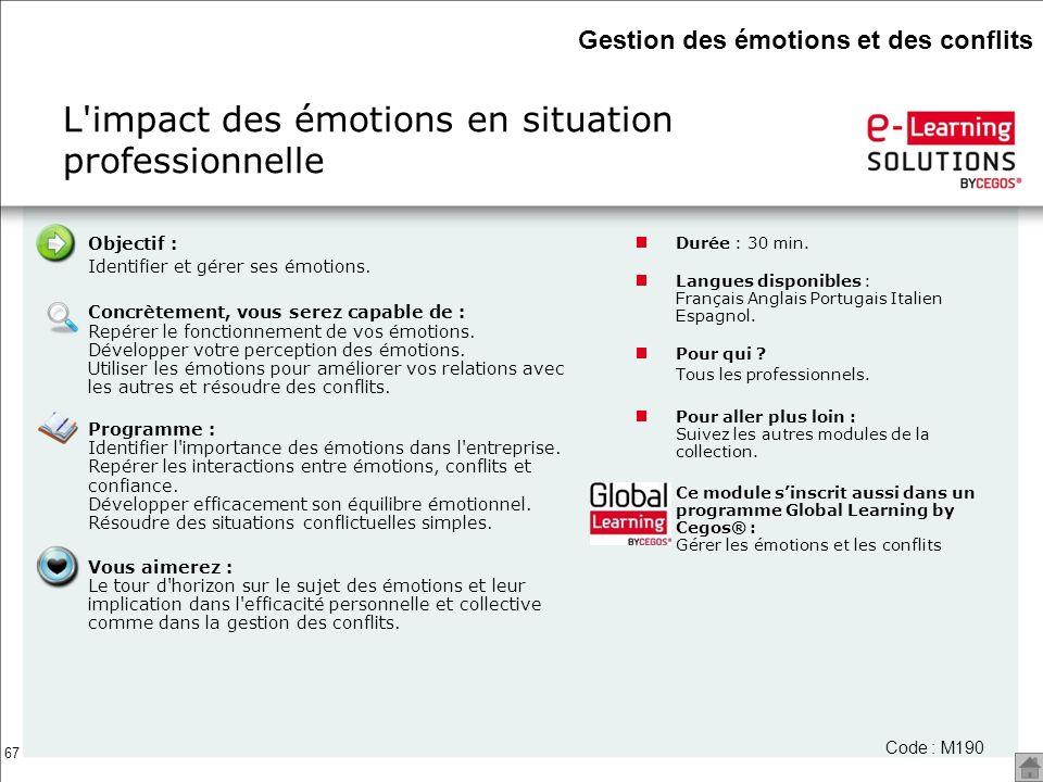 L impact des émotions en situation professionnelle