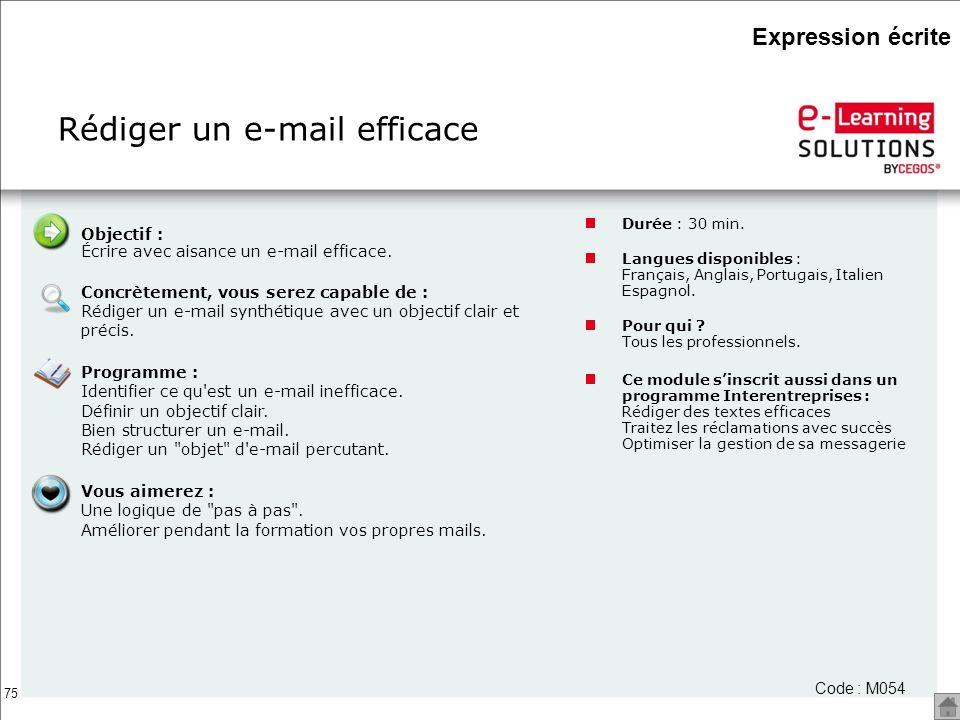 Rédiger un e-mail efficace