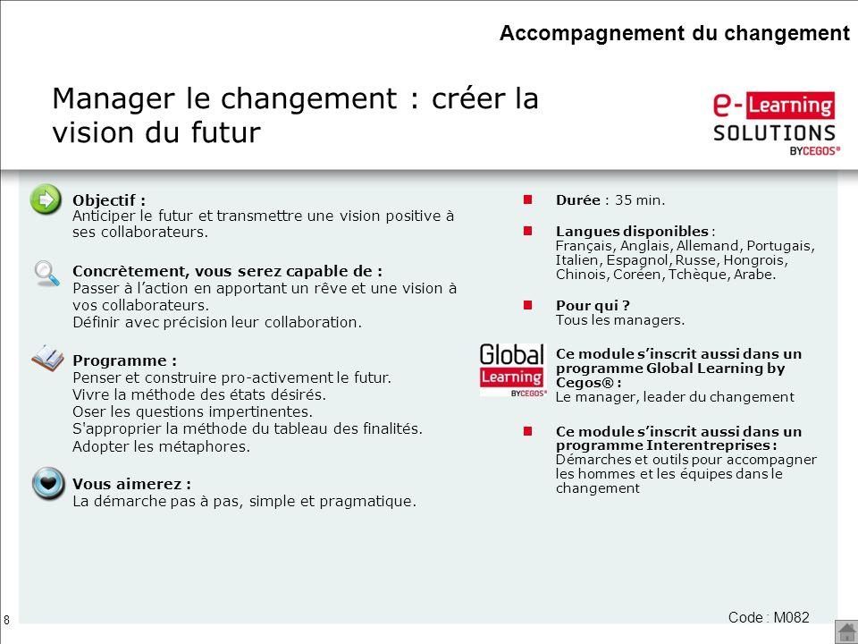 Manager le changement : créer la vision du futur