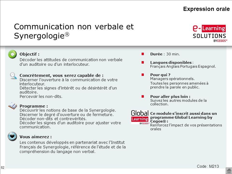 Communication non verbale et Synergologie®