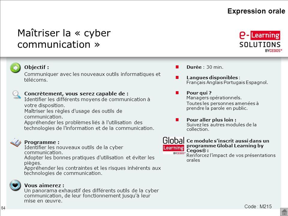 Maîtriser la « cyber communication »