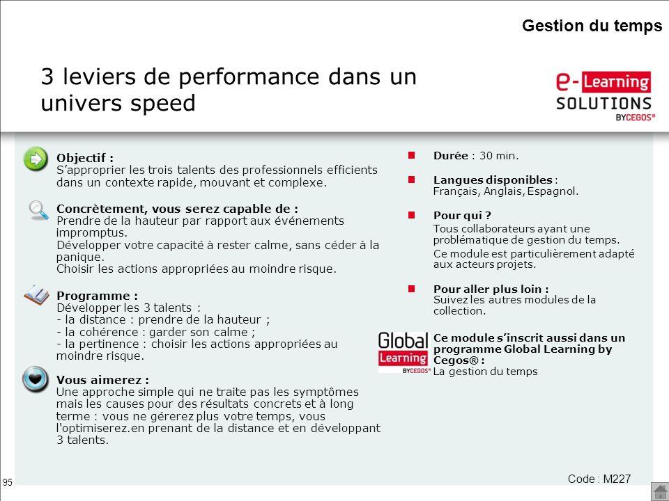 3 leviers de performance dans un univers speed