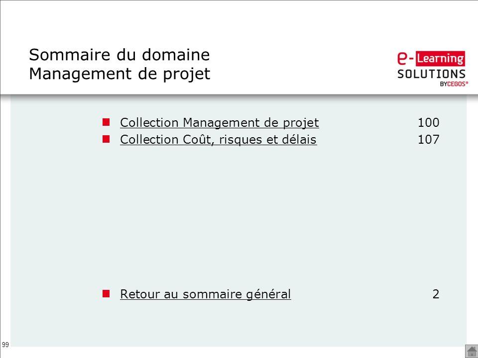 Sommaire du domaine Management de projet