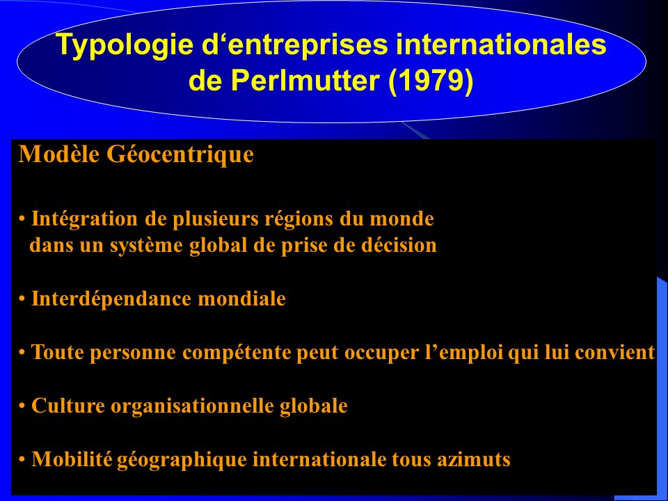 Typologie d'entreprises internationales