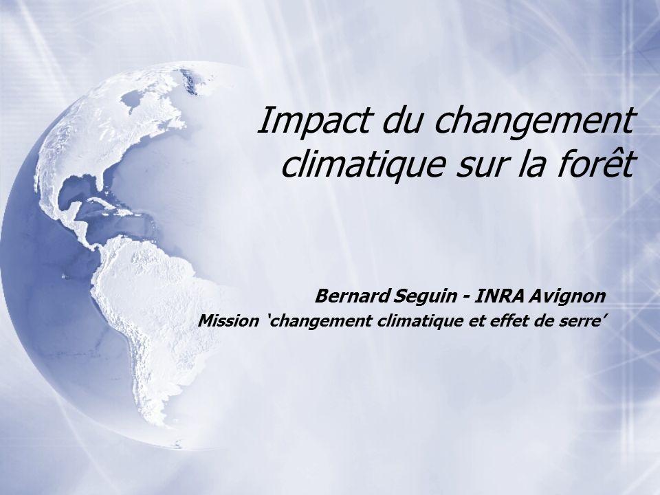 Impact du changement climatique sur la forêt