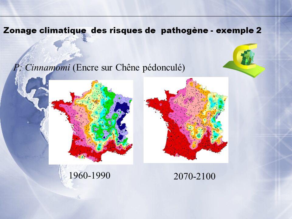 Zonage climatique des risques de pathogène - exemple 2