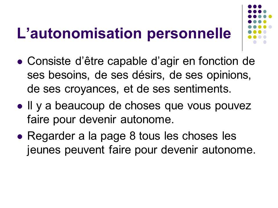 L'autonomisation personnelle