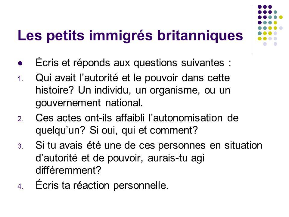 Les petits immigrés britanniques