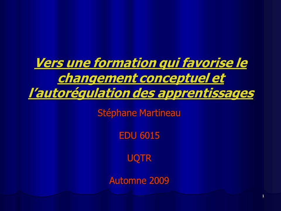 Stéphane Martineau EDU 6015 UQTR Automne 2009