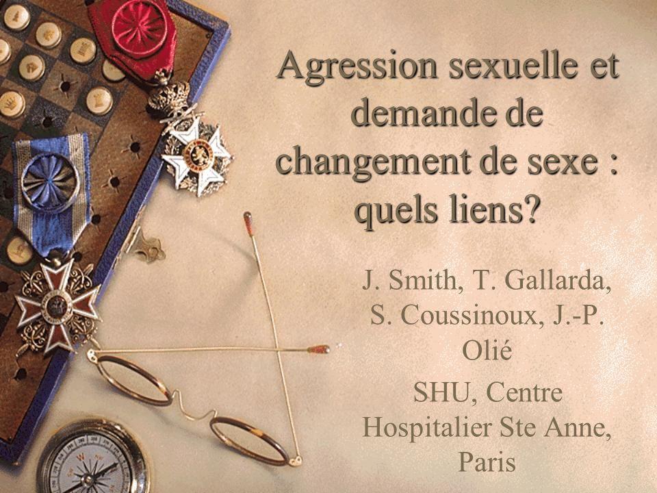 Agression sexuelle et demande de changement de sexe : quels liens