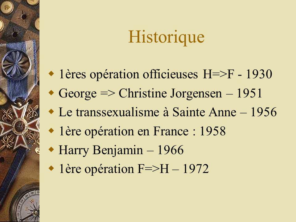 Historique 1ères opération officieuses H=>F - 1930