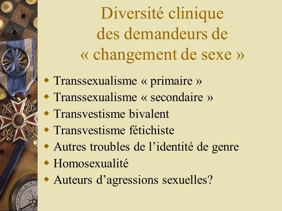 Diversité clinique des demandeurs de « changement de sexe »