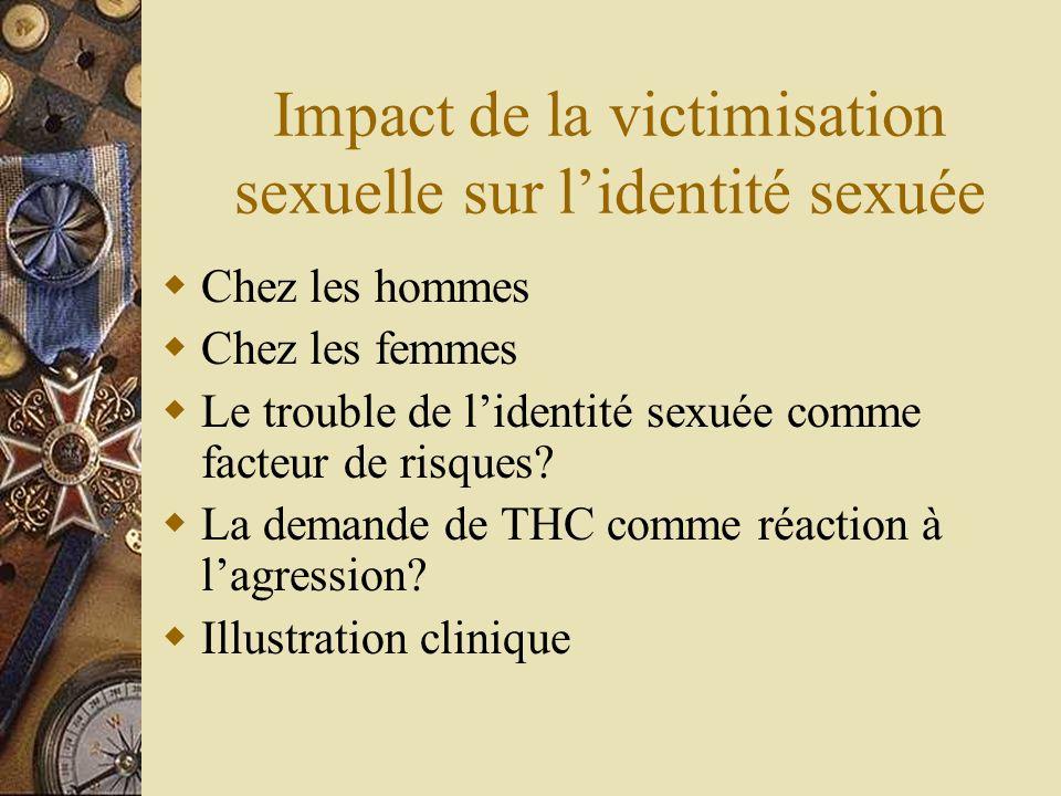 Impact de la victimisation sexuelle sur l'identité sexuée