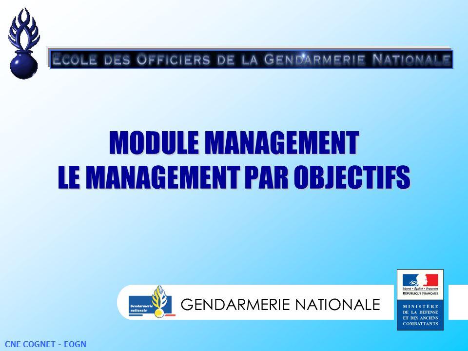 MODULE MANAGEMENT LE MANAGEMENT PAR OBJECTIFS