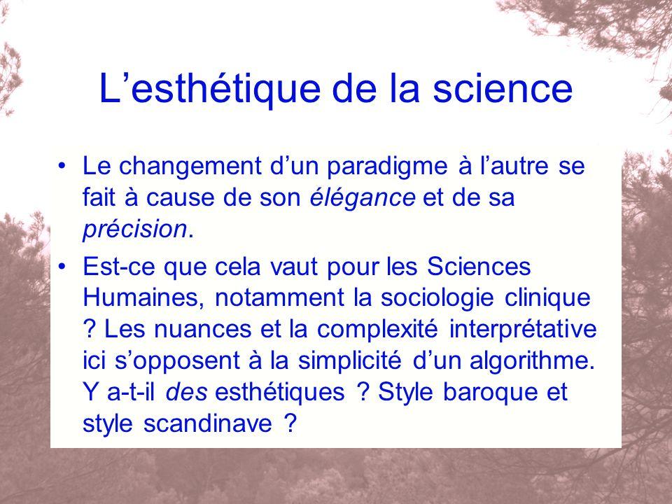 L'esthétique de la science