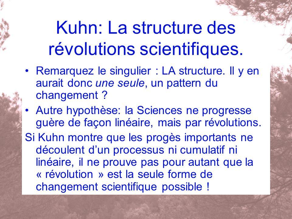 Kuhn: La structure des révolutions scientifiques.